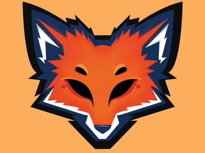 Fox Logo orange zorro animal logodesign design logo gaming flat fox illustration