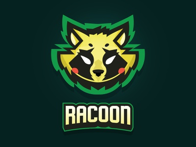 Racoon Logo colorful gaming gaminglogo animal logo animal racoon illustration