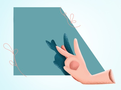 Shadow Puppet ai illustration simple minimal hand puppet shadow