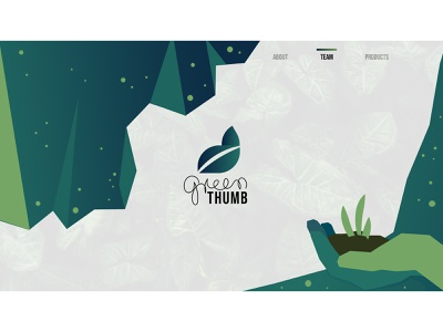 Green Thumb vector illustration user interface plants hand green logo greenthumb green web uidesign ui