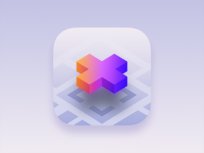 AR — X isometric isometry 3d model place map logo reality augmented ar ios icon