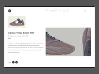 Sneakers concept website