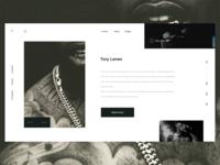 Minimal concept website for Tory Lanez