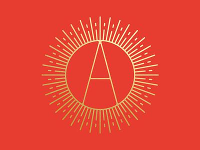 Mid Century Anaheim Angels logo poster sports gold mid century anaheim angels baseball