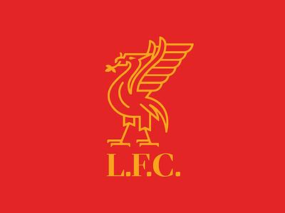 Liverpool FC rebrand mockup ynwa lfc rebrand sports logo jersey premier league football soccer liverpool