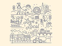 "Illustration for Fivestars ""Love Local"""
