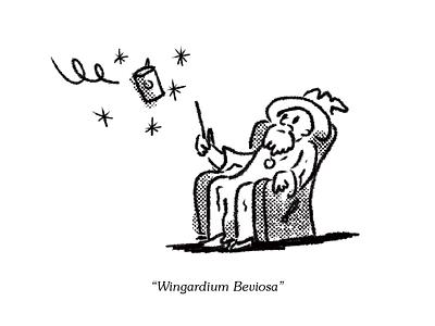 Wingardium Beviosa illustration wizard spell inktober 2018 inktober