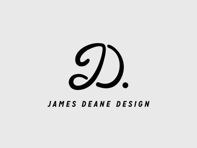 James Deane Design merged letters james deane james dean jd logo dot merged design logo jd