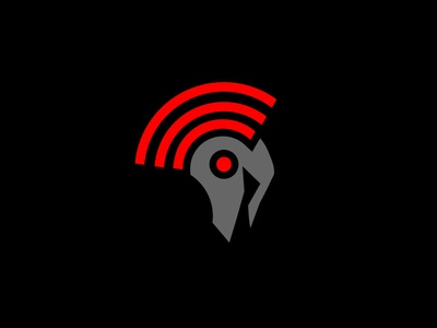 Spartans Network spartans spartan wifi logo network symbol knights mascot illustration helmet vector logo
