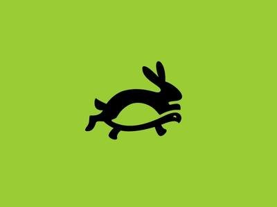 tortoise and the hare negative space space negative negative space logo symbol icon branding vector logo rabbit the hare hare tortoise tortoise and the hare