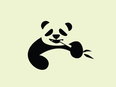Panda pandas panda logo panda negative space logo negative-space negativespace simple logo illustration design logo