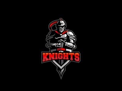 Knights Logo story history war medieval shield sword hero armor knights esports logo sports logo mascot logo cartoon illustration character logo mascot