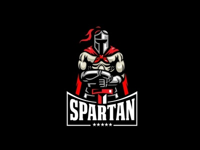 Spartan Character Logo character logo mascot pride honour fight fighter knight ancient helmet sword story history medieval hero warrior spartacus rome spartans spartan