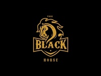 The Black Horse Badge Logo