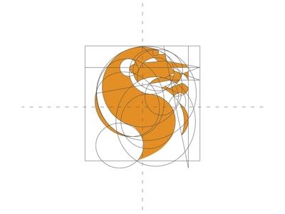 Lions Mascot Logo Grid lion lions grid grid logo design branding badge vector character logo mascot