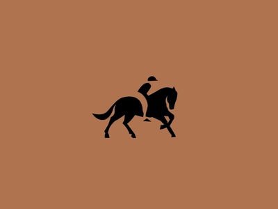 equestrian Logo equestrian negative space negative space logo illustration logo