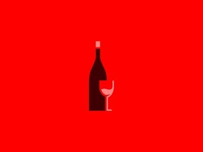 Wine modern wine design flat  design ui branding logo