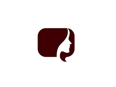 Women Voices chat bubble bubble chat box chat bar girl lady woman logo bar chat chat app voice logo