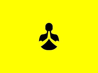 Namaste negative space negative space logo east yoga namaste branding ui design logo