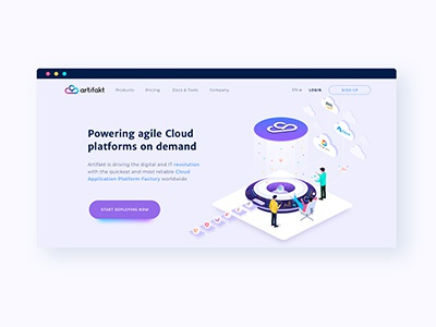 Artifakt website web ux design ui illustration
