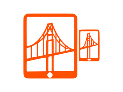 T-Shirt Graphic for Mobile HCI 2012 golden gate mobile sf