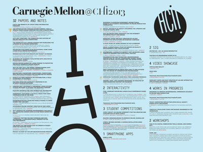 Carnegie Mellon University @ CHI 2013 poster