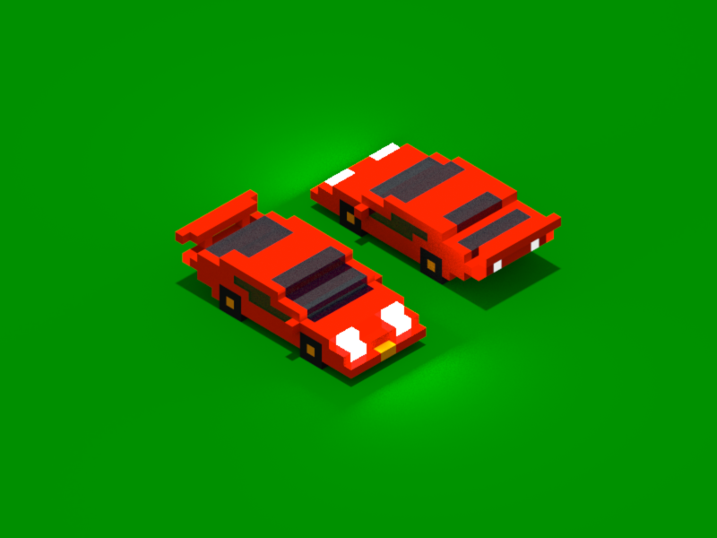 Lamborghini Countach illustration isometric 3d lamborghini countach magicavoxel voxel car