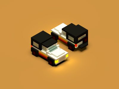 Land Rover jeep landrover vehicle voxel magicavoxel isometric car 3d illustration
