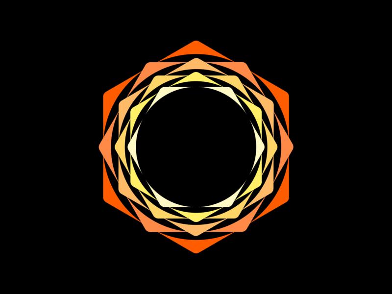 Black Hole Sun vector hole sun hexagon