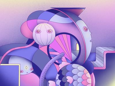 Self Universe calm noise illustration procreate