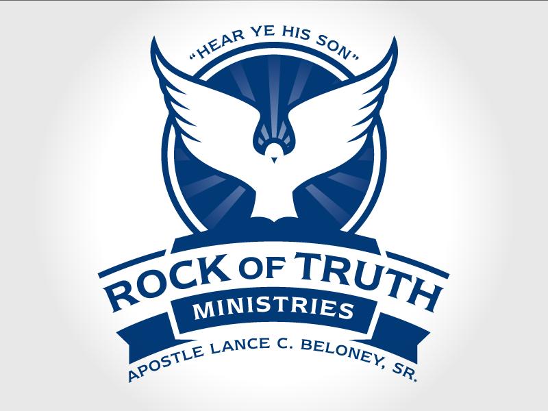 Apostolic Ministry Crest ecclesia church white blue monochrome logo dove apostle holy spirit ministry
