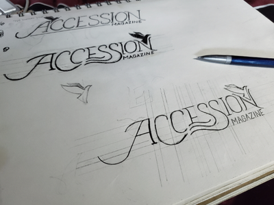 Magazine Title Process Flow process freehand black and white lettering magazine sketch pencil illustration