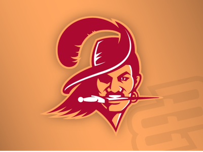 It's Bruce... illustration concept logo nfl creamsicle buccaneers tampa bay tampa bruce bucco bruce