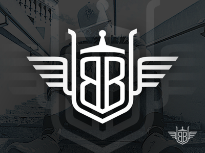 Allow Me to Reintroduce Myself... heraldry winged trucker trucking black and white branding ilustration logo
