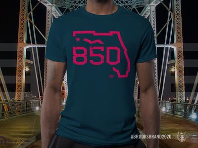 Florida Corners: Northwest Mockup northwest panhandle photoshop mockup shirt illustration apparel logo monoline apparel florida pensacola area code