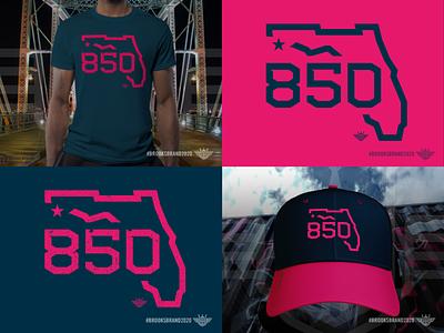 Florida Corners: Northwest - 850! cap hat apparel design apparel logo monoline illustration logo area code state 850 florida pensacola