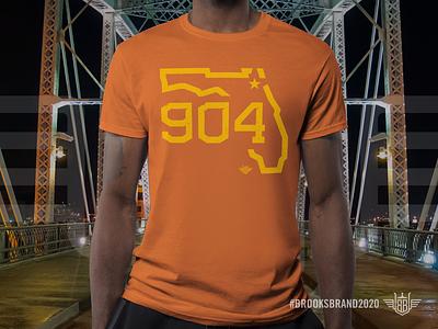 Florida Corners: Northeast - T-Shirt yellow orange apparel logo apparel graphics apparel mockup apparel design illustration monoline logos state 904 area code northeast florida