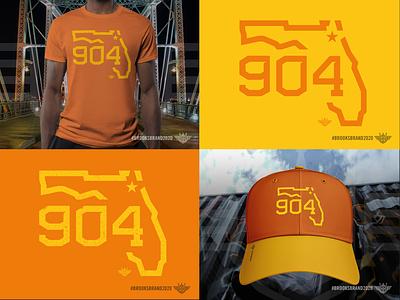 Florida Corners: Northeast - 904 yellow orange apparel design apparel mockup apparel logo monoline illustration logo state 904 area code florida jacksonville northeast