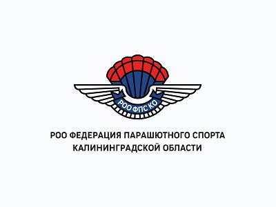 Parachute Federation design vector branding logo