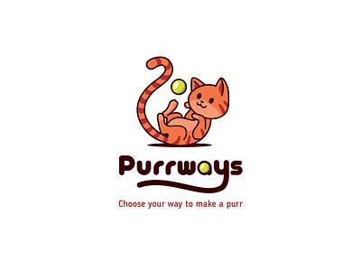 Purrways design vector branding illustration logo