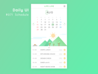 Daily_UI_#071_ Schedule