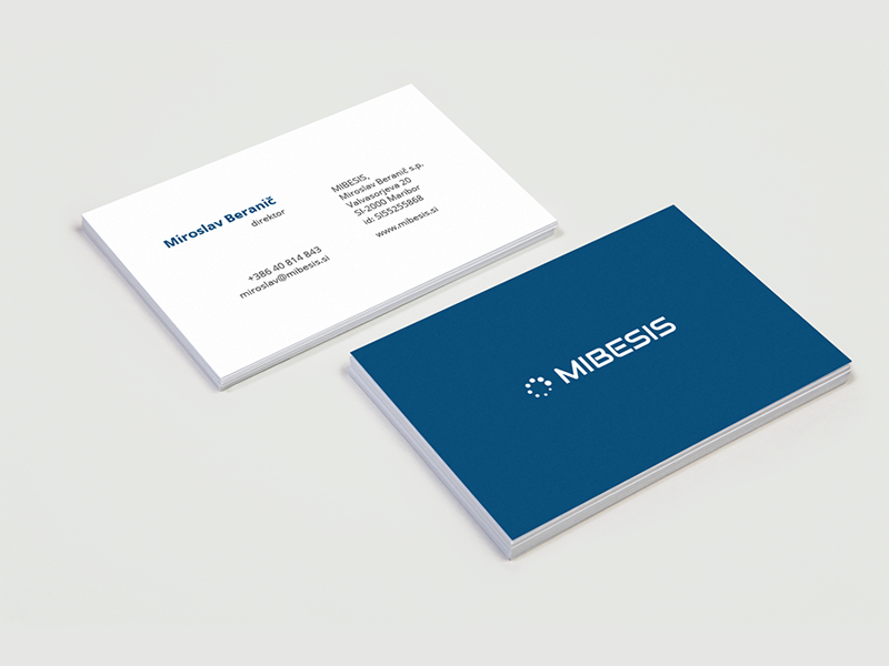 Mibesis Business card by Rok Dimec - Dribbble