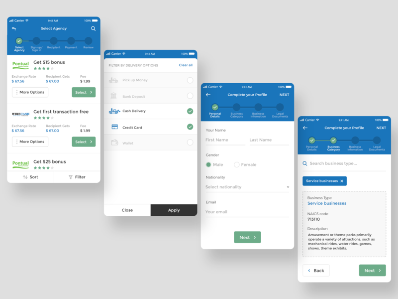 Transfer Money App Interface