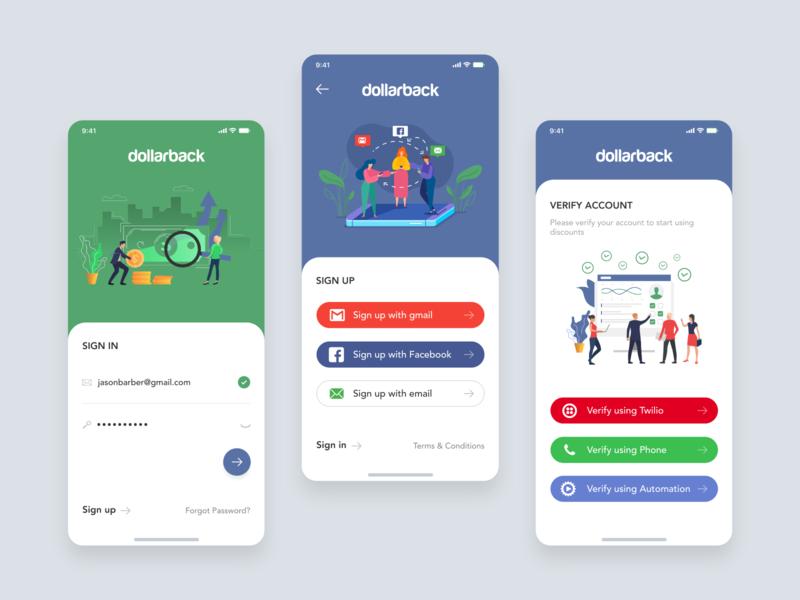 Dollarback Mobile app