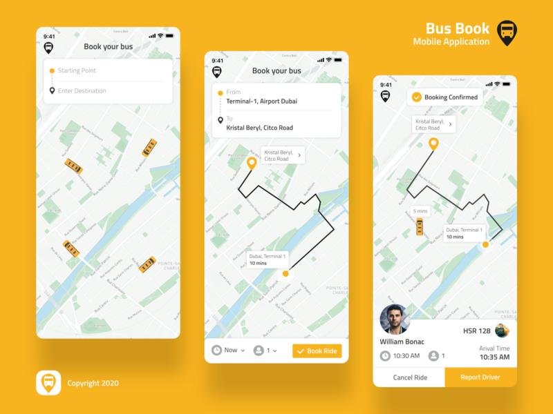 Book a Bus Mobile Interface
