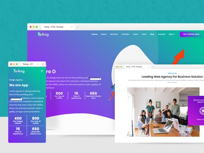 New Landing Page HTML Template