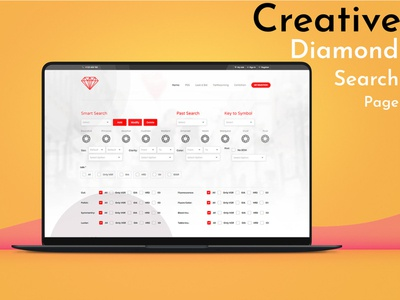 Creative Diamond Search Layout