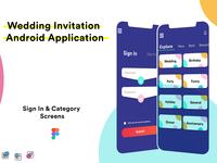 Wedding Invitation Android Application Design