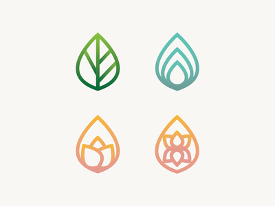 GB Logo Icons (B1) design logodesign art illustrator vector logo logo icon eco yoga leaves earth nature vector art