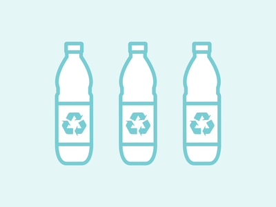 Water Bottle Icons recycle icon design design vector art icon vector illustrator melmelart art